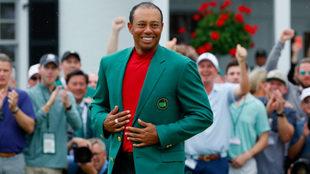 Woods, con su chaqueta verde