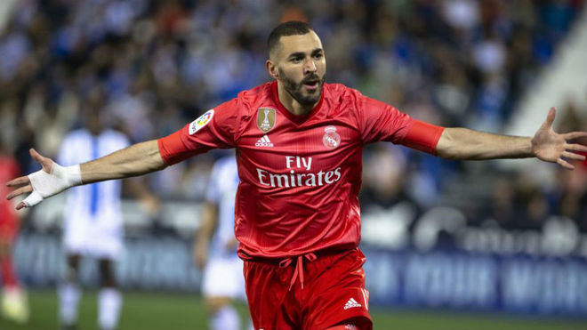 Karim Benzema, one of Adidas' sponsored players at Real Madrid.