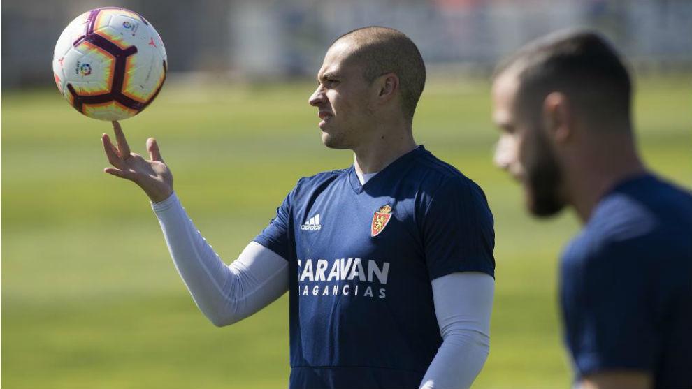 Jorge Pombo y Álvaro Vázquez, en un entrenamiento.
