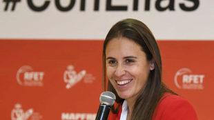Anabel Medina, durante un acto.