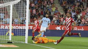 Gol del Girona al Celta en el partido de la primera vuelta.