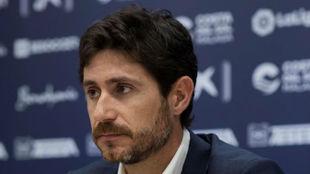 Víctor Sánchez del Amo, en su presentación.