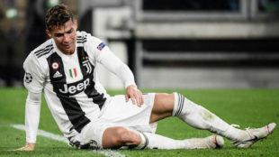 Cristiano Ronaldo, desolado tras la eliminación de Champions.