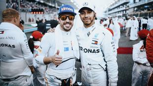 Fernando Alonso y Lewis Hamilton.