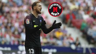 Oblak, durante un partido con el Atlético esta temporada.