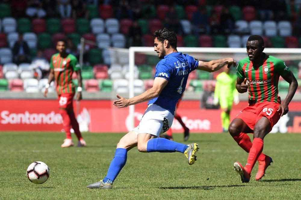 Briseño, en un partido con el Feirense en la Liga Portuguesa 2019/20.