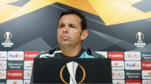Calleja, en rueda de Prensa previa al partido de la Europa League.