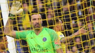 Buffon se lamenta tras encajar un gol
