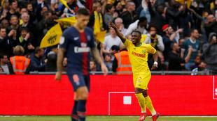 Fonteneau celebra un gol del Nantes
