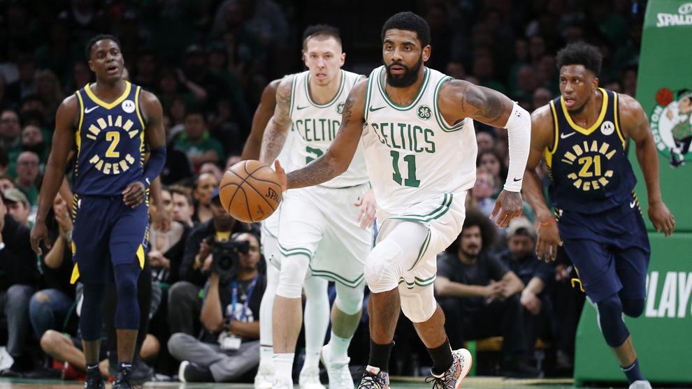 Kyrie Irving destacó con los Boston Celtics.