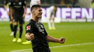 Jovic, celebrando un gol de la presente temporada