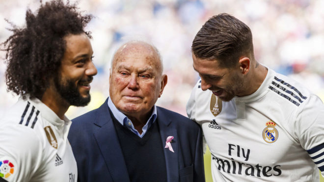 Agustin Herrerin, with Marcelo and Sergio Ramos