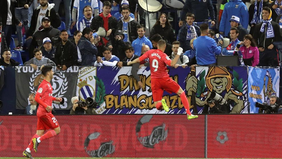 El delantero del Real Madrid Karim Benzema ha marcado los últimos...