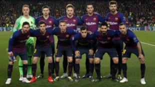 El once del Barcelona que se enfrentó al Manchester United.