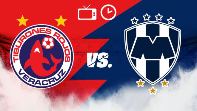 Veracruz vs Monterrey: Horario y dónde ver