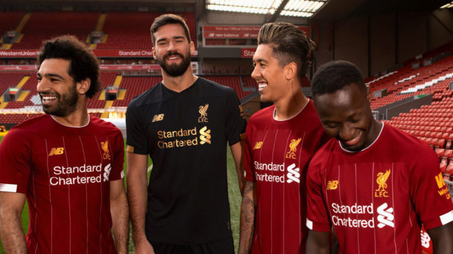 best loved 87627 62a55 Premier League: Liverpool's present their new kit ahead of ...