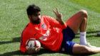 Diego Costa durante un entrenamiento.