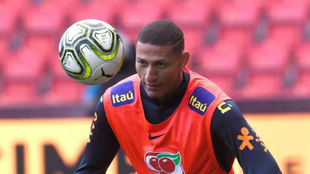 Richarlison whilst on international duty with Brazil