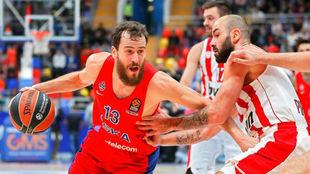 Sergio Rodríguez y Vassilis Spanoulis, dos de los líderes de CSKA y...