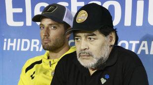 Maradona no salió contento con el rival