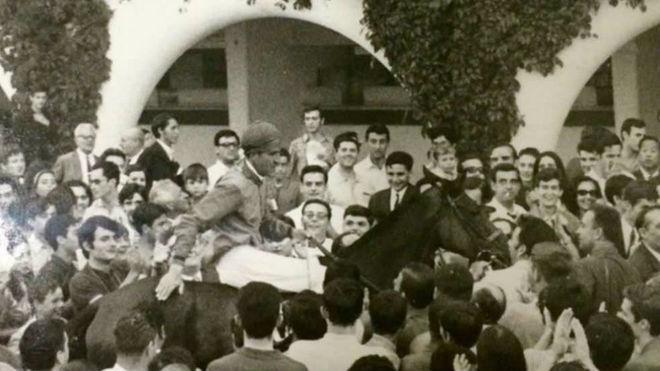 El duque de Alburquerque venció en el G.P. Madrid-68, con 'Tebas'....