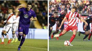 Los delanteros uruguayos de Celta y Girona: Maxi Gómez y Stuani.