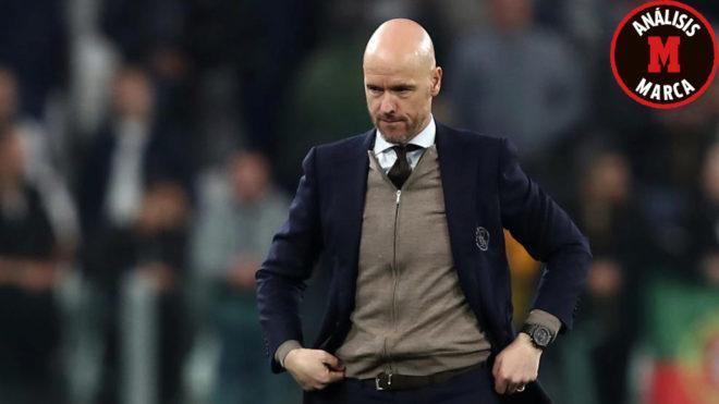Ten Hag during Ajax's clash with Juventus.