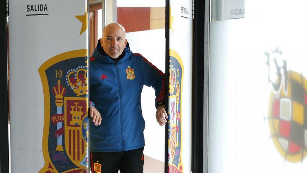 David Gordo en la Ciudad deportiva de Las Rozas.