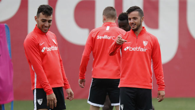 Munir and Pablo Sarabia