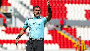 Saúl Silva durante un partido del Ascenso MX.
