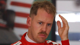 Vettel durante el GP de China