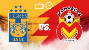 Tigres vs Morelia: Horario y dónde ver