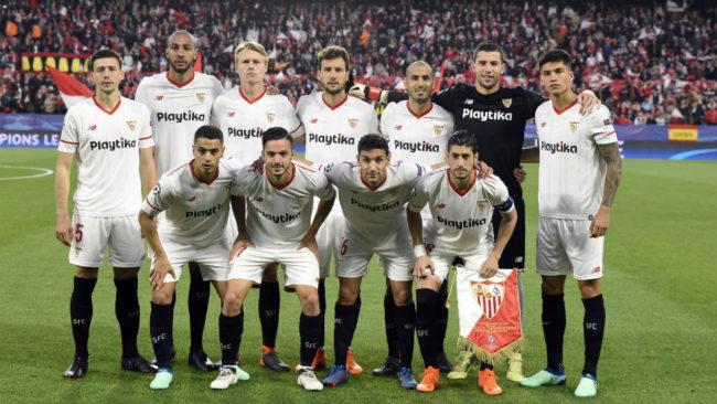 Alineación del Sevilla frente al Bayern, con David Soria y Sarabia.