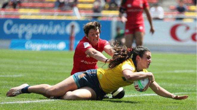 Una jugada del partido entre España y Australia.