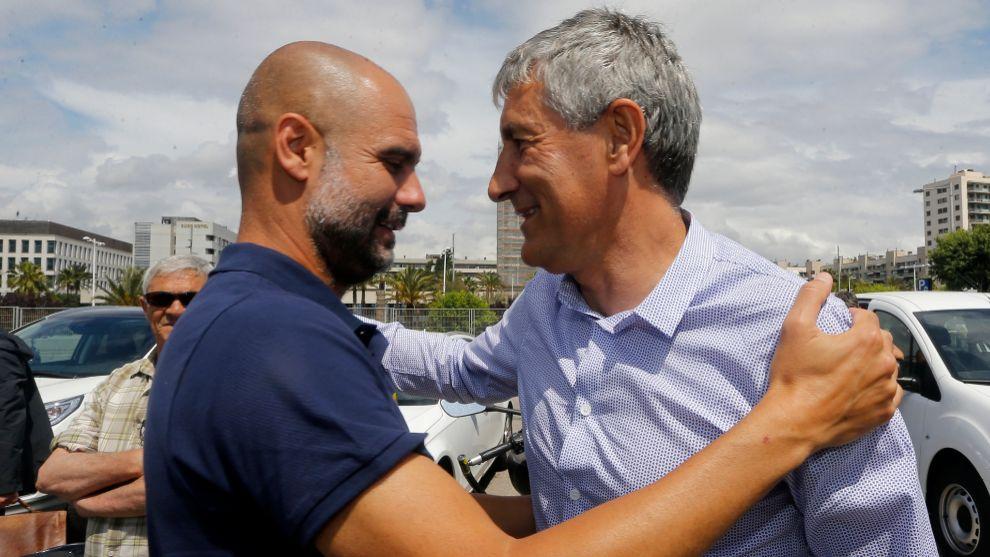 Guardiola and Setien.
