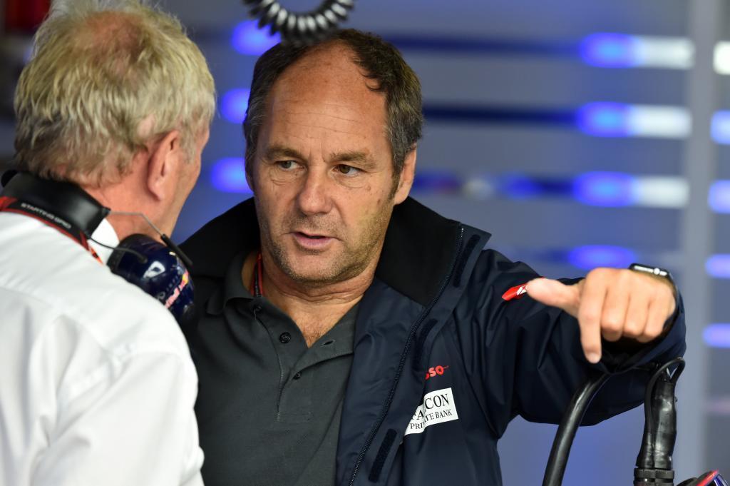 Dr Helmut Marko (AUT) Red Bull y <HIT>Gerhard</HIT><HIT>Berger</HIT> (AUT) G.P. de Japón, 14ª prueba del Mundial en el circuito Suzuka, el viernes 25 de septiembre de 2015