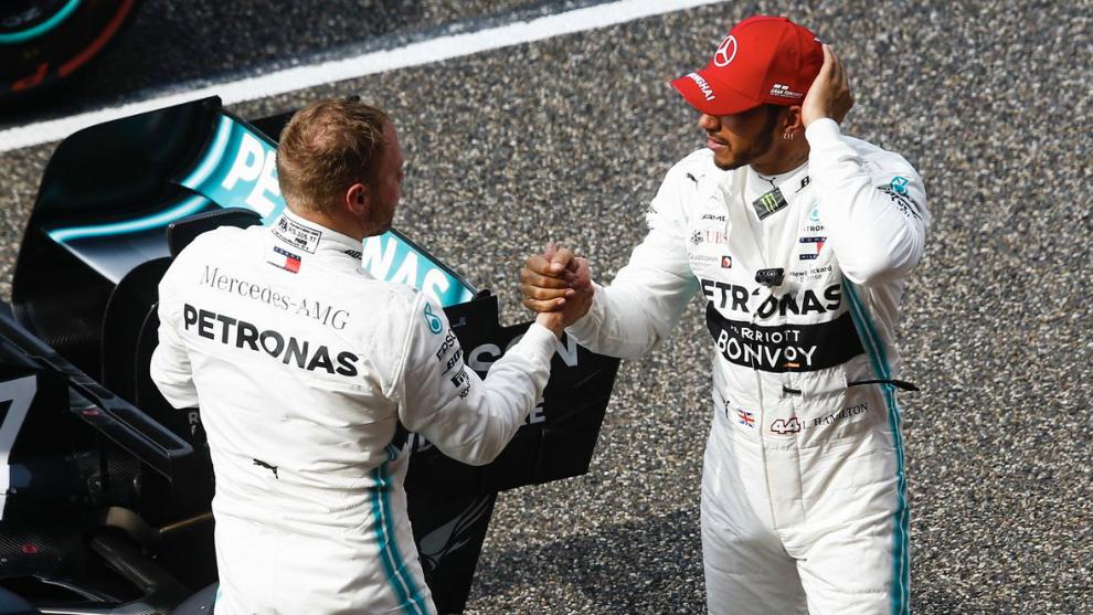 Bottas y Hamilton en el GP de China