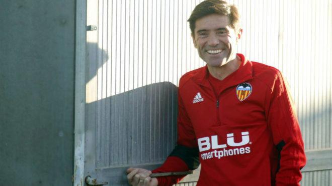 Marcelino durante un entrenamiento.