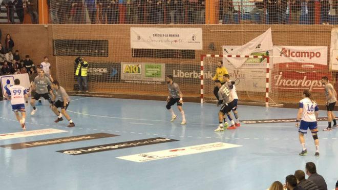 Un momento del partido entre el Cuenca y el Granollers /