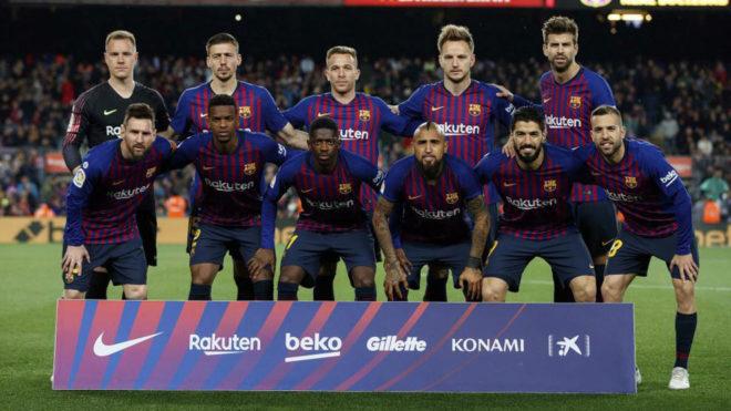 Barcelona's starting XI vs Real Sociedad.