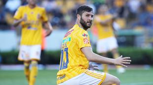 Gignac jugó todo el partido frente a Morelia.