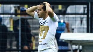 Alan Mozo en lamento tras el gol anulado