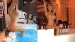 La tarta de cumpleaños de Kourtney en los stories de Kim Kardashian