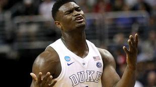 Zion Williamson se lamenta por la derrota de Duke en la NCAA