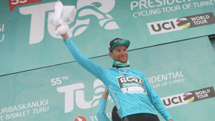 Felix Grossschartner, en el podio.