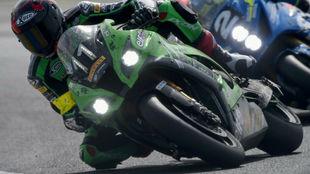 La Kawsaki #11 de Checa, Guarnoni y Nigon, en las 24 Horas de Le Mans.