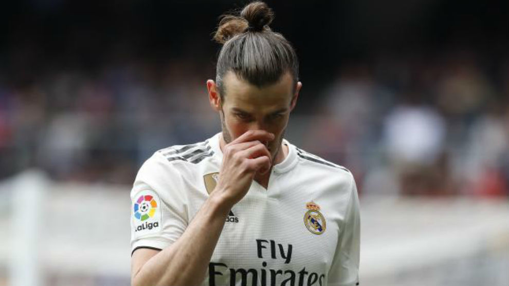 Bale during Sunday's match against Athletic Club.