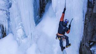 David Lama, en una escalada