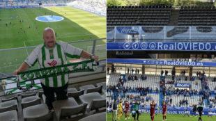 Javier Jiménez, el único aficionado que apoyó al Córdoba en...
