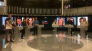 Oficiales de mesa en el plató de TVE